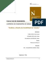 Análisis y Diseño de Estabilidad de Taludes