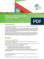 Monthly measles and rubella monitoring report October 2019