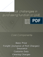 Logistic Chalenges in UAE