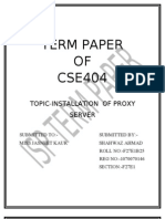 INSTALLATION OF PROXY SERVER  Term Paper