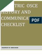 Pediatric Osce History and Communication Checklist-1