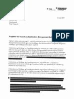Udviklings- Og Forenklingsstyrelsen Og Toldstyrelsens Svar På Anbefalingerne Af 11. Juni 2019