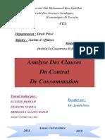 Analyse Des Clauses de Contrat de Consommation