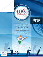 FSPA India Sports Report - Executive Summary