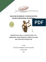 Importancia de La Conciliación y El Arbitraje Como Medios Alternativos de Solución de Conflictos
