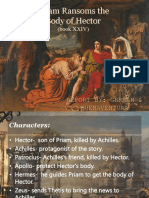 Priam Ransoms the Body of Hector