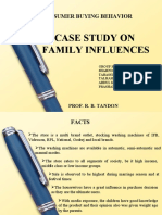 Consumer Behavior - influence by familly