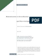 Remuneration Et Diversification
