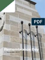 Remembrance Program 2019