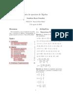 Lista de ejercicios de algebra a 2 columnas