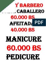 Corte Cabello, Manicure