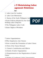 Chapter 9 Maintaining Labor Management Relations f
