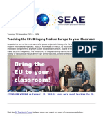 Eeas - European External Action Service - Teaching the Eu Bringing Modern Europe to Your Classroom - 2018-11-26