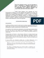 Quiere Morena quitar a Lorenzo Córdova de la presidencia del INE