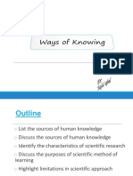 Sources of Knowledge11