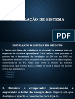 Instalação de Sistema