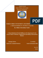 Foreign Direct Investment and Ethiopian Economy