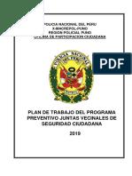 Plan de Trabajo Con Jj.vv. Rosaspata