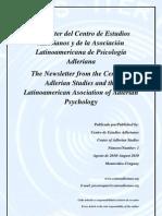 Newsletter del Centro de Estudios Adlerianos y la Asociación Latinoamericana de Psicología Adleriana N.1