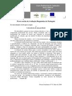 Teste Diagnóstico Para o Curso Profissional Port. 11