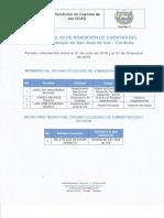 Informe rendición de cuentas San José de Uré 2016
