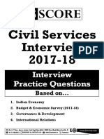 Civil Services Interview 2017-18 - All Questions