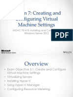 70-410 R2 Creating and Configuring Virtual Machine Settings