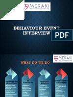 Behaviour Event Interview Basics