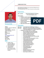 Sample curriculum vitae heavy-duty equipment technician