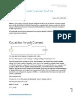 Capacitor inrsuh current