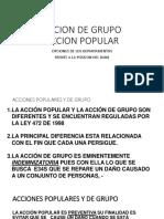 ACCION de GRUPO y Accion Popular Mfnd