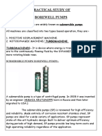 Practical Study of Borewell Pump