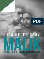 Lisa Helen Gray - Carter Brothers 1 - MALIK