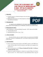 Bases Torneo IRT de Ajedrez San Juan 2019