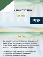 Gas Test Work Permit