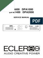 Ecler DPA600_DPA1000_DPA1400_DPA2000 Stereo Amplifier
