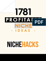 1781 Profitable Niche Ideas 2017 Update