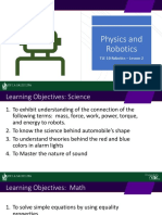 Physics and Robotics