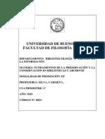 P01 Programa Fundamentos de Preservacion