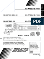 JVC KD-APD38/KD-PDR30
