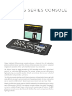 200 Plus Series Console Specsheet