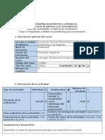 Guía de Actividades y Rubrica de Evaluación. Fase 2. Empatizar y Definir Un Problema Para El Proyecto