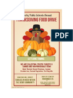 Derby High School Thanksgiving Food Drive Flyer