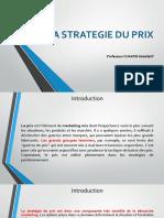 LA STRATEGIE DU PRIX .pptx