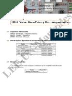 LEE-4 Variac Monofásico y Pinza Amperimétrica