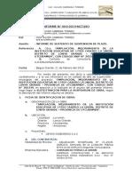 INFORME N° 04-SUSTENTO DE SUSPENSION DE PLAZO