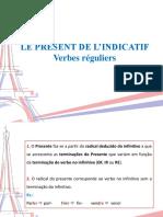 Présent Des Verbes Réguliers 8º 2019- 2020