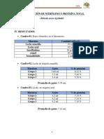 Determinación de Nitrógeno y Proteína Total