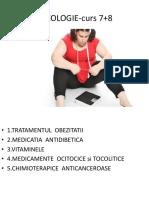 Farmacologie curs 7+8