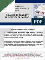 EL BANCO DE SANGRE Y SU CONTROL DE CALIDAD